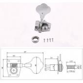 Комплект колков для бас-гитары Metallor MHB01-CR (4 шт)