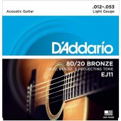 D'Addario EJ11 Bronze Light (012-053)