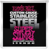 Ernie Ball 2248 Super Slinky Stainless Steel (009-042)
