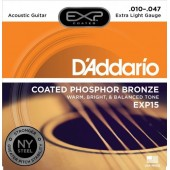 D'Addario EXP15 Coated Phosphor Bronze Extra Light (010-047)