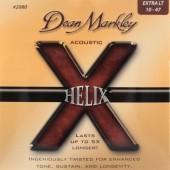 Струны Dean Markley Helix HD 80/20 2080 (010-047) для акустической гитары