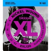 D'Addario EXL120 Nickel Super Light (009-042)
