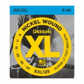 Струны D'Addario EXL125 Nickel Super Light (009-046) для электрогитары
