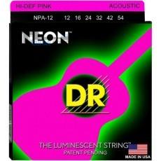 Струны для акустической гитары DR NPA-12 NEON Hi-Def