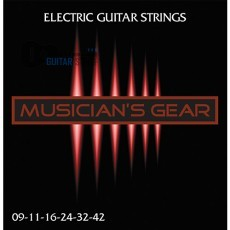 Musician's Gear Electric 9 Nickel Plated Steel