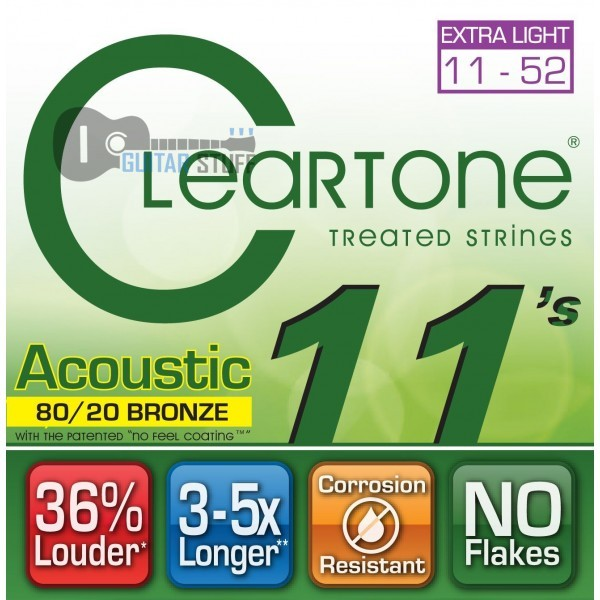 Струны Cleartone Bronze Custom Light (011-052) для акустической гитары