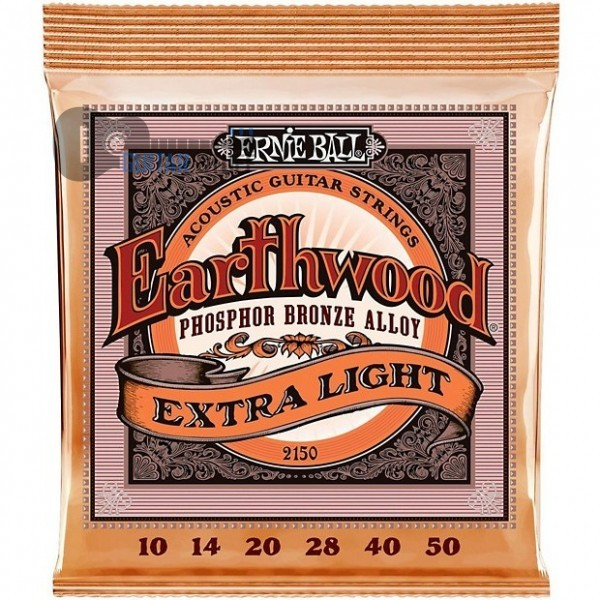 Струны Ernie Ball 2150 Extra Light (010-050) для акустической гитары
