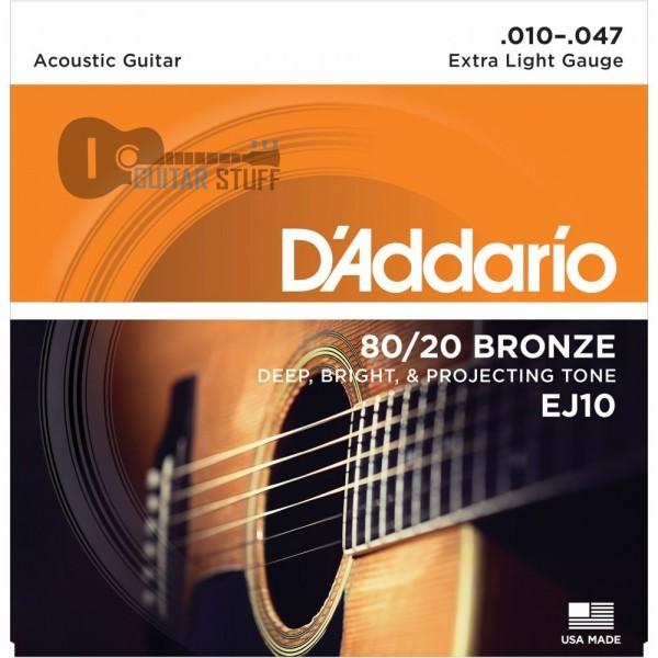 D'Addario EJ10 Bronze Extra Light