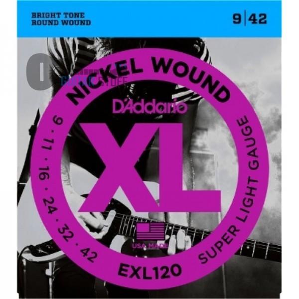 D'Addario EXL120 Nickel Super Light