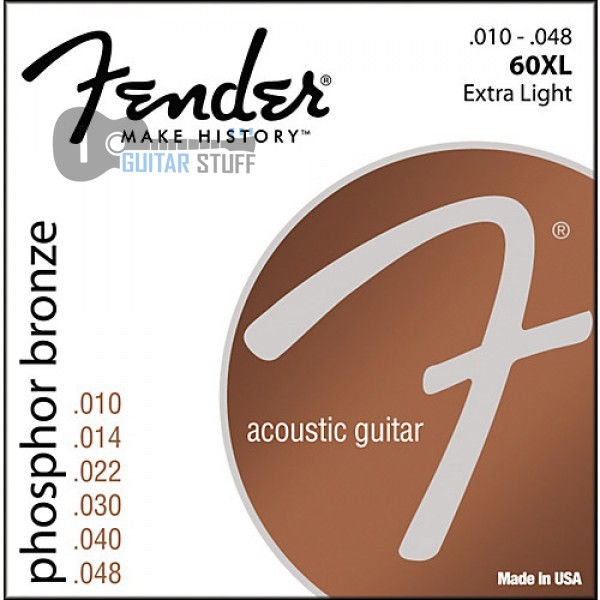 Fender 60XL Phosphor Bronze Extra Light